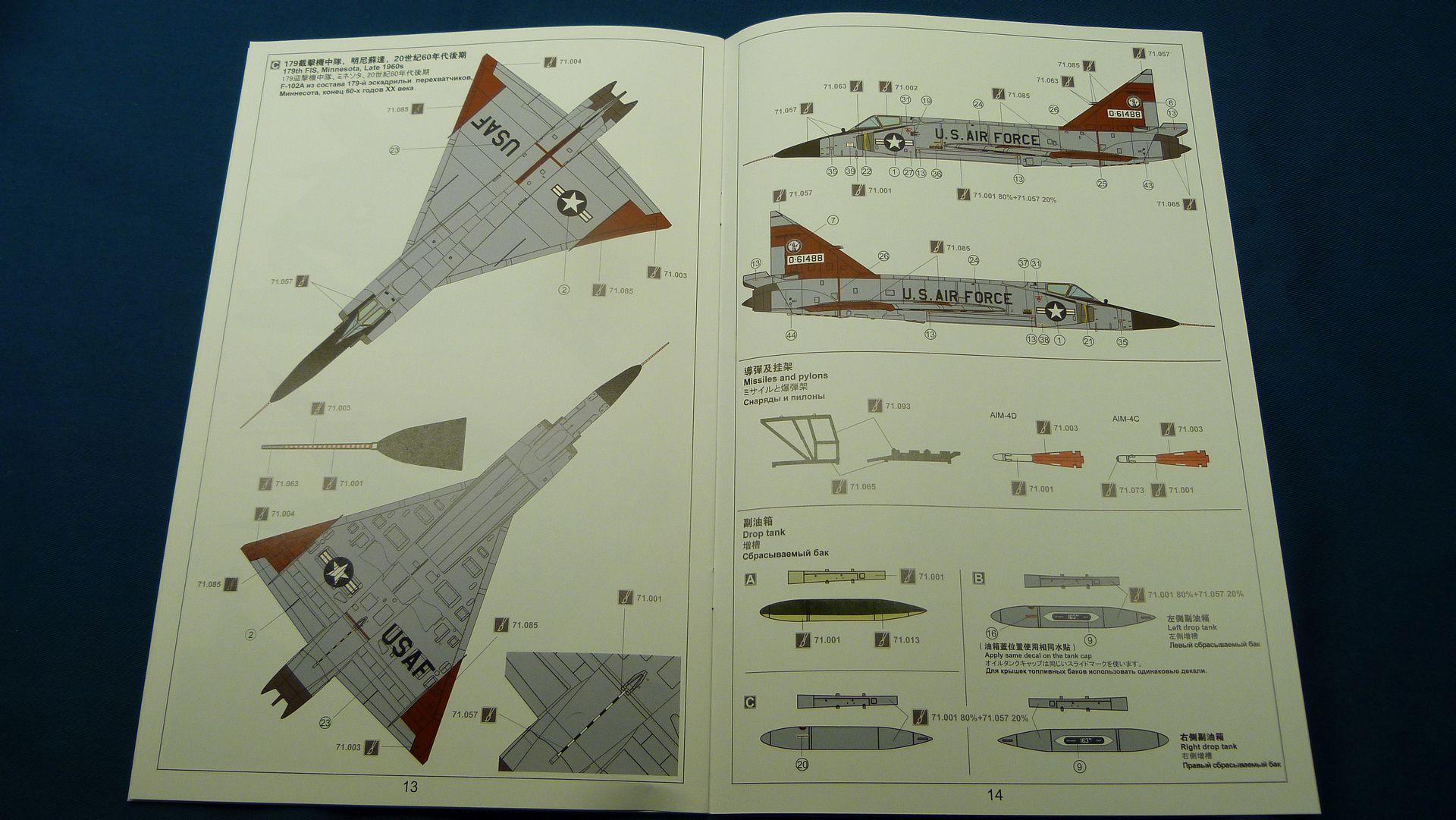 Meng Deltavingar, F-102 och F-106, 1/72 44065039130_d241d81a64_o