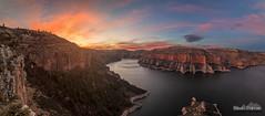 Bighorn Canyon Sunset HDR Panorama