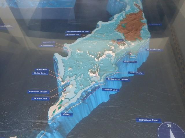 パラオの海の立体地図?に感動し