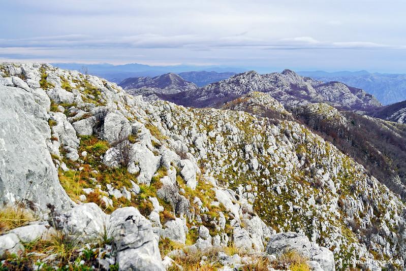 Хребет и горы за ним