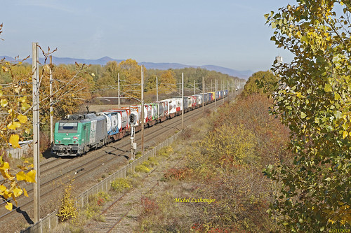 BB 37045 Train Intermodal à Wittelsheim