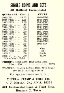 NUM May 1956 610 Joe Mitula coin ad