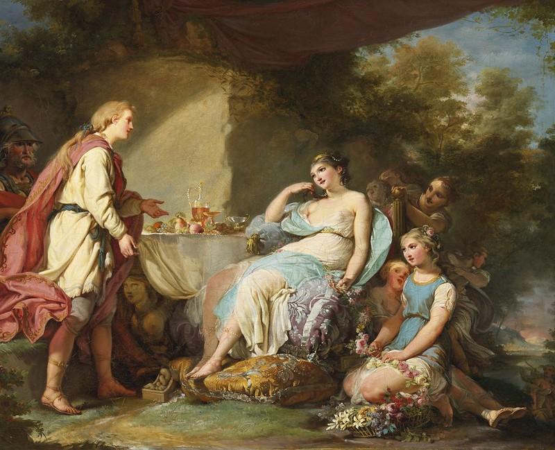 Jean-Hugues Taraval - Telemachus on the island of the goddess Calypso