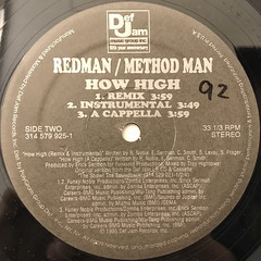 METHOD MAN & REDMAN:HOW HIGH(LABEL SIDE-B)