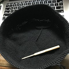 Hell's Grannies Hat in Progress