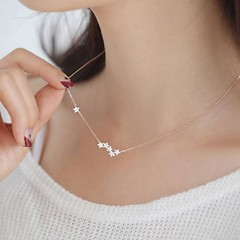 Wonder Cute Crystal Star Floating Pendant Necklace