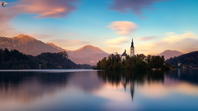 Lake Bled in evening light