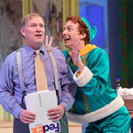 Elf - The Musical at the Arvada Center - Mark Devine (WAlter Hobbs) and Josh Houghton (Buddy) Matt Gale Photography 2018