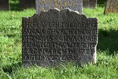 Here lyeth the body of Susan Church the wife of Thomas Church (1722)