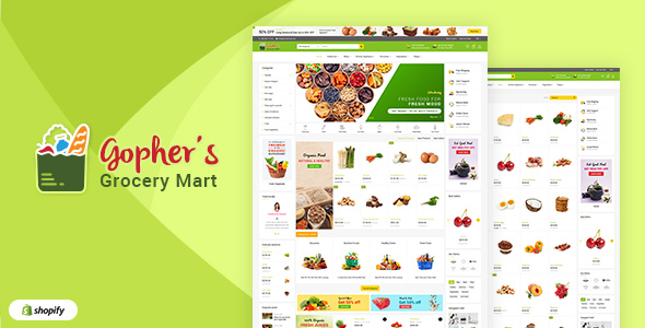 Gopher's v1.1 - Grocery, Shopping Centre Shopify Theme