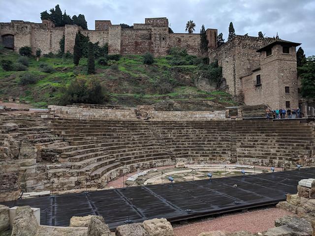 Roman amphitheater in Malaga