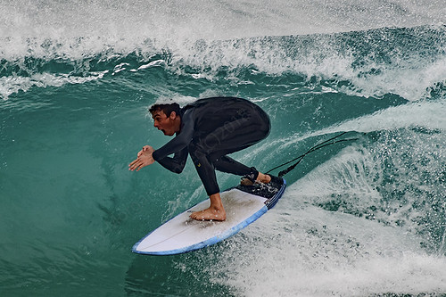 Surfers at El-Porto 010518