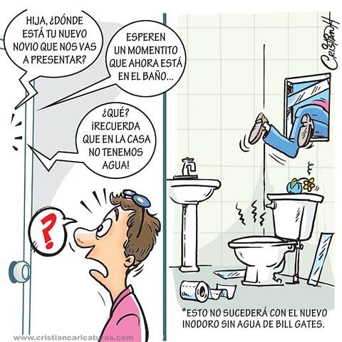 Inodoro sin agua de Bill Gates