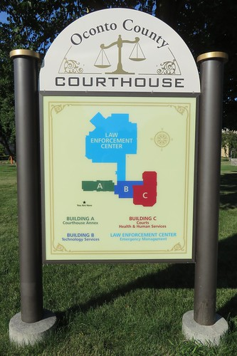 Oconto County Courthouse Sign (Oconto, Wisconsin)