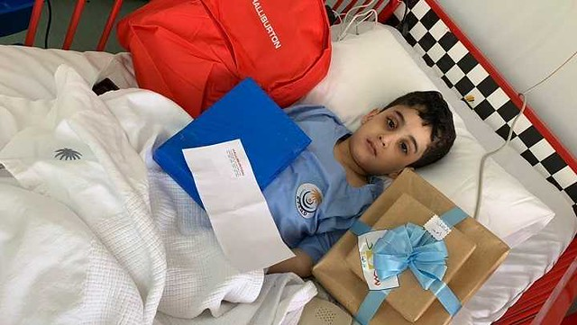4821 A Handicapped Saudi Boy donates his stem Cells to save his sister's life 05