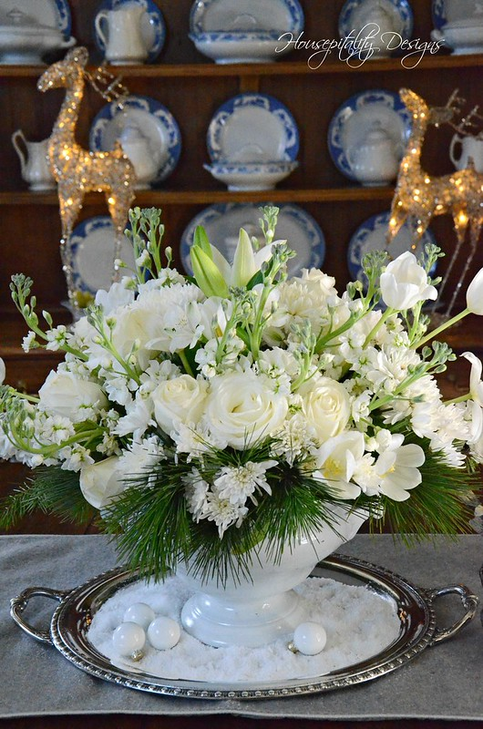 White Christmas Centerpiece-Housepitality Designs-3