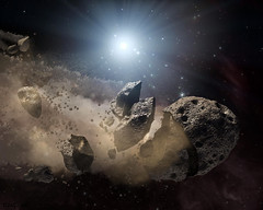 Dusty remains of shredded asteroids around several dead stars. Original from NASA. Digitally enhanced by rawpixel.