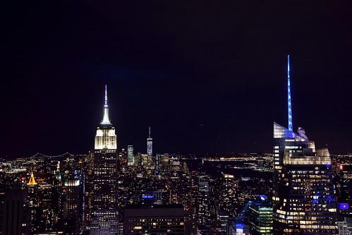 rockefeller building topoftherock nyc new york city usa urban night time