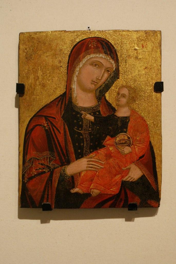 Vierge et l'enfant au musée des Beaux Arts ligures à Gènes.