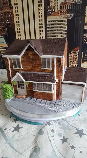 House Shaped Cake by Home Sweet Cake