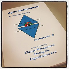 Jag fick en present på jobbet! :blue_book::gift: #agile
