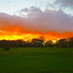 Sunset over Crane Valley golf course
