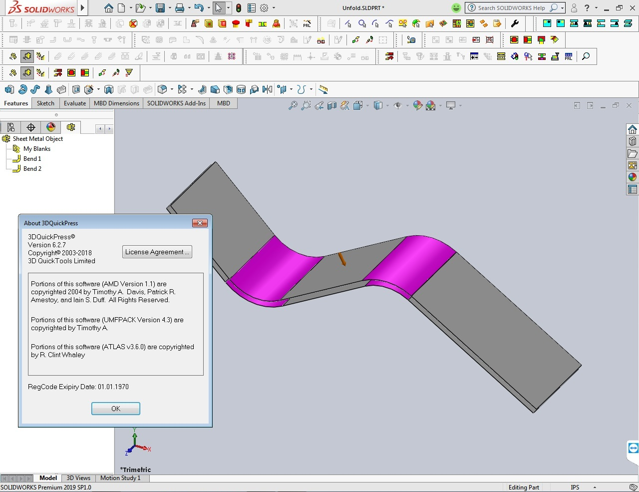 Working with 3DQuickPress v6.2.7 for SolidWorks 2012-2019 full