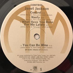 JANET JACKSON:CONTROL(LABEL SIDE-A)