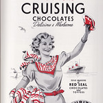 Sun, 2018-12-09 19:19 - Happy days at sea with Edmondson's delicious and wholesome Red Seal chocolates and toffees! There are, of course, today, some subtly different connorations to the word 'crusing but in the 1950s the reference was to the happy sea-going excursions that marked such a part of many holidays and pleasure resorts. Founded in 1880 the comapny was bought out in the 1960s by the big Liverpool name of Barker and Dobson.