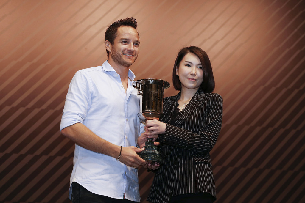 SCHEIDER Timo (AUT), ALL-INKL.COM Muennich Motorsport, Honda Civic TCR, portrait prize giving ceremony  during the 2018 FIA WTCR World Touring Car cup of Macau, Circuito da Guia, from november  15 to 18 - Photo Francois Flamand / DPPI
