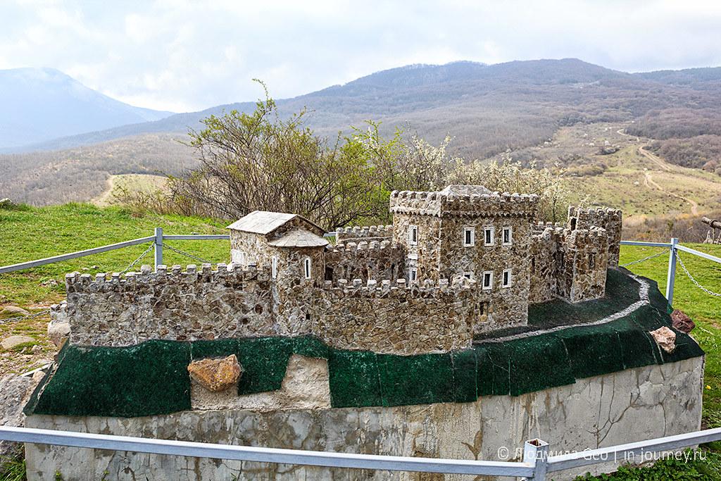 крепость Фуна в Крыму макет