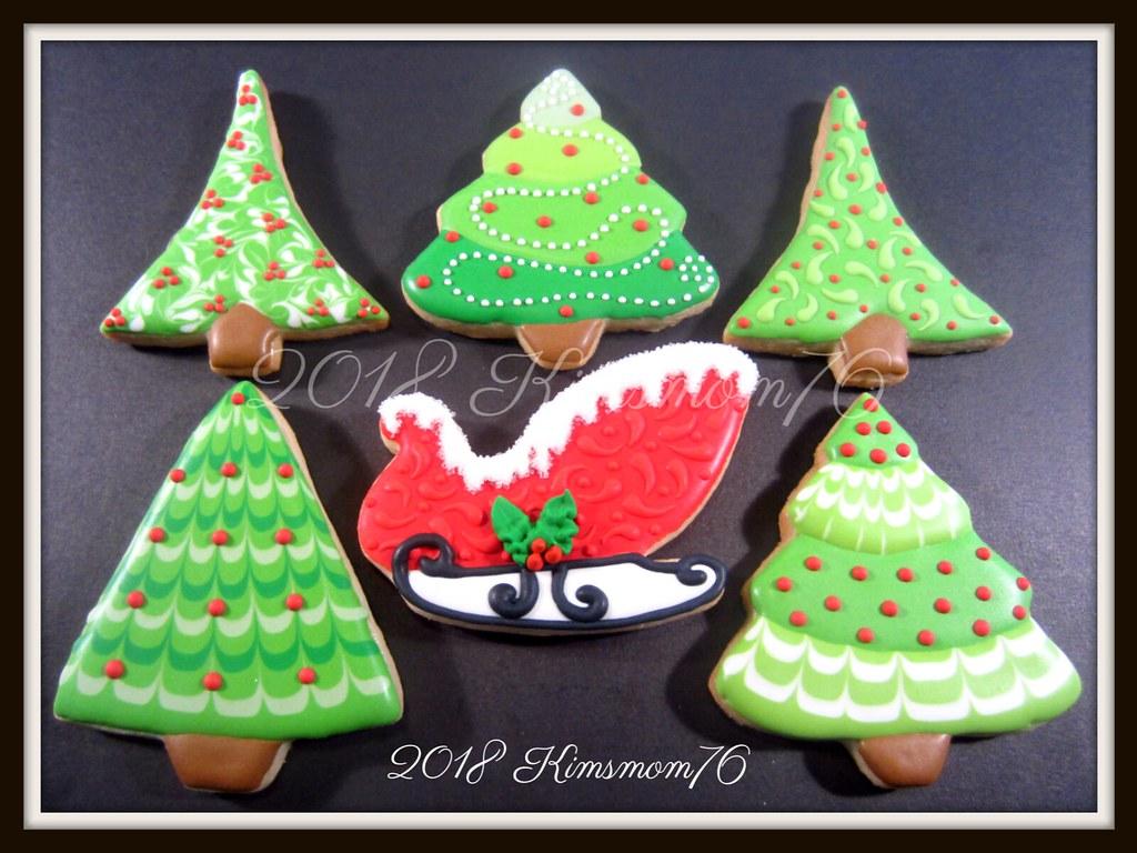 Christmas Tree And Sleigh Cookies Kimsmom76 Susan Flickr