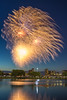 Fireworks over Boston