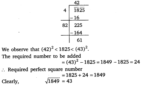 NCERT Solutions for Class 8 Maths Chapter 6 Squares and Square Roots 41