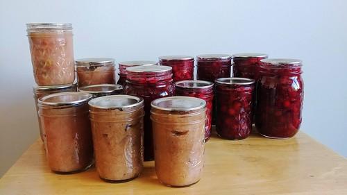 Applesauce + Pickled Cranberries