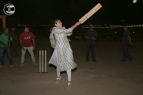 Satguru Mata Ji playing Cricket