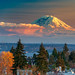 Rainier over Seattle by alans1948