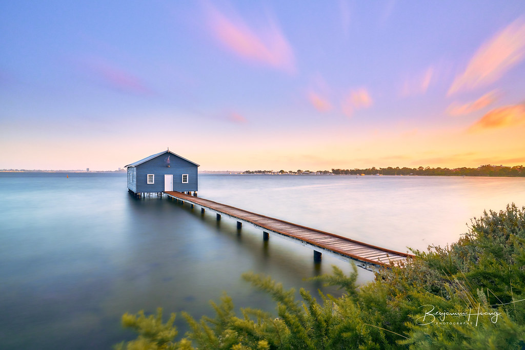 Sunset Crawley Edge Boatshed