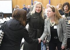 State Rep. Leslee Hill participates in the HASA/CABE/CREC legislative breakfast.