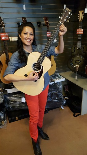 Sara at Crossroads Music with C.F. Martin Guitar | by Crossroads Music - Port Townsend, WA