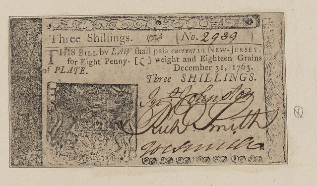 New Jersey ThreeShilling note