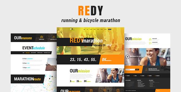 Redy v1.0.3 - Marathon and Sports WordPress Theme
