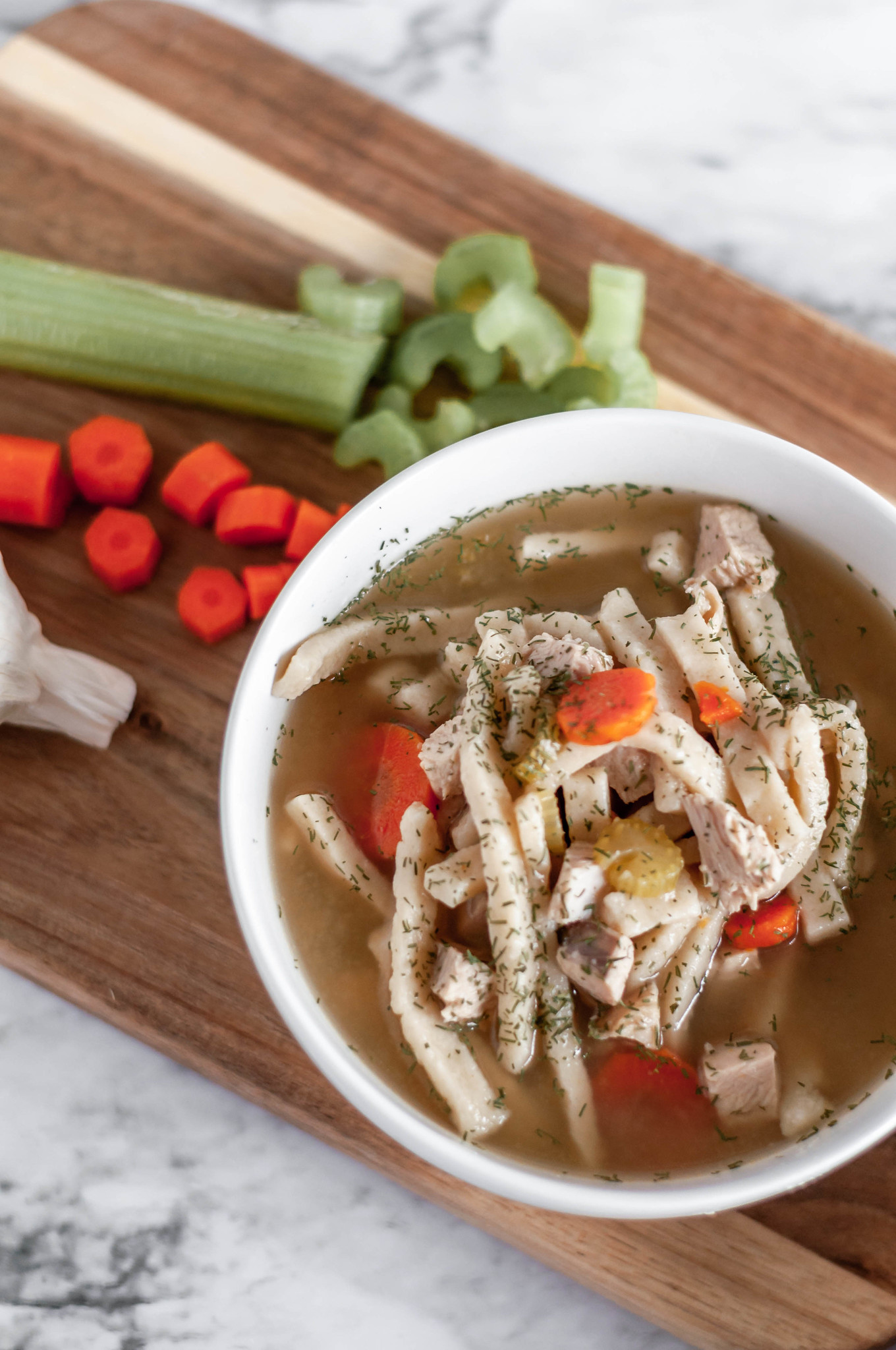 Instant Pot Turkey Noodle Soup uses your leftover turkey from Thanksgiving to make a hearty, flavorful soup in the Instant Pot.
