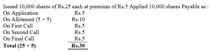 TS Grewal Accountancy Class 12 Solutions Chapter 8 Accounting for Share Capital Q10