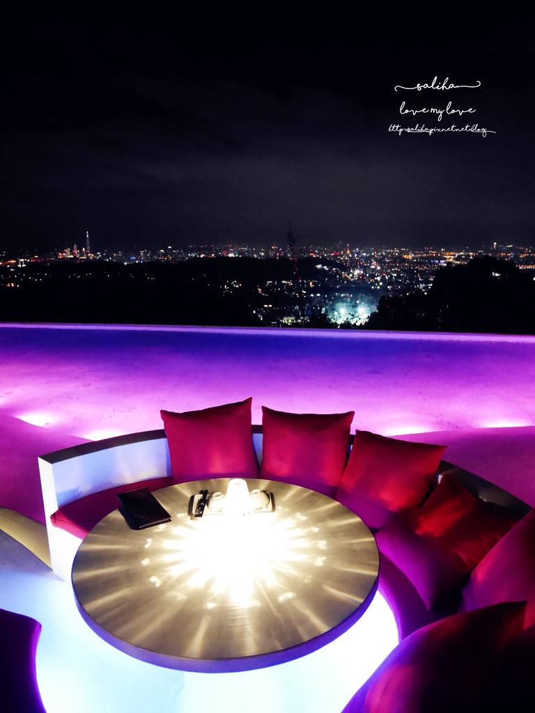 台北陽明山一日遊必吃必玩行程景點推薦THETOP屋頂上好吃景觀餐廳看夜景池畔 (11)