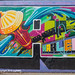 """Detail of """"Welcome to Harlem"""" Mural, Graffiti Hall of Fame, East Harlem, New York City"""