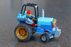 Blue tractor, right side