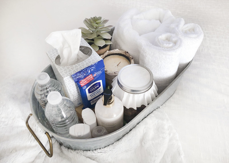 Guest Room Welcome Basket Essentials