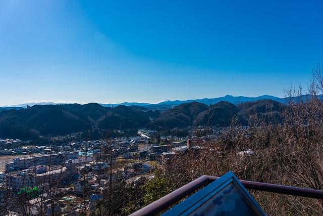 丹沢と富士山、奥多摩が良く見える@天覧山