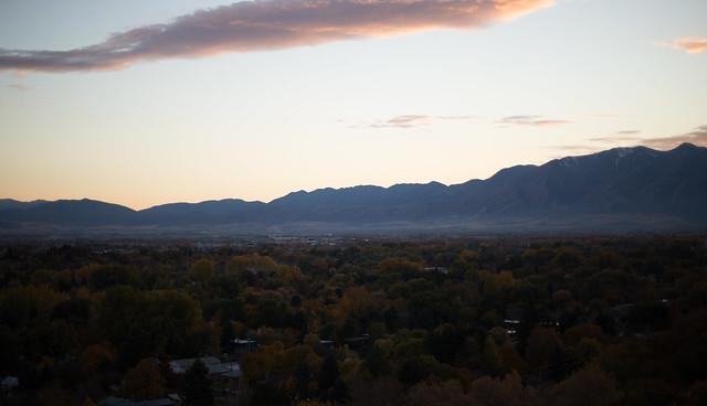 Logan Utah at Dusk